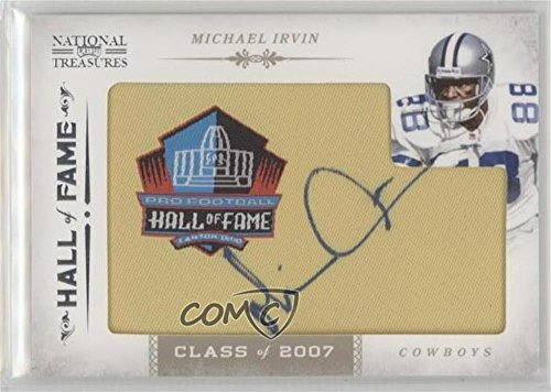 - Michael Irvin #/40 (Football Card) 2011 Playoff National Treasures - Embroidered Hall of Fame Patches #24