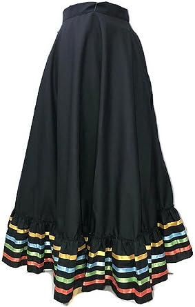 Amazon.com: Folklórico Falda - Faldas de baile: Clothing