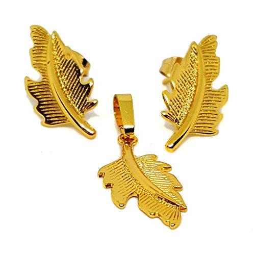 (mset-611-h6-2) Gold Overlay Leaf ()