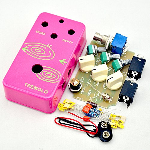 Build your ownTremolo Effects Pedal kits with 1590B Pink