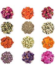 Witchcraft Supplies Dried Flowers- Soap Making Kit Dried Herbs, Natural Dried Flowers for Resin Molds, Bath, Soap Making, Candle Making- 12 Bags