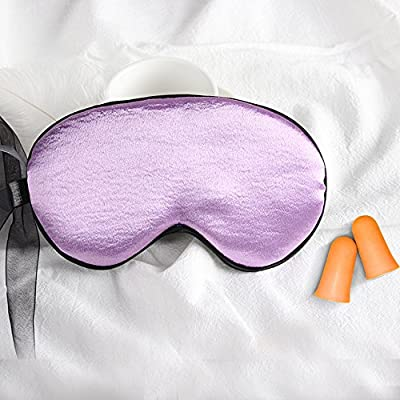 Darrell Care Sleep Mask by, 100% Natural Silk, Super Soft Eye Mask with Adjustable Strap, Blindfold, Block Lights, Comfortable Sleeping Aid (Purple)