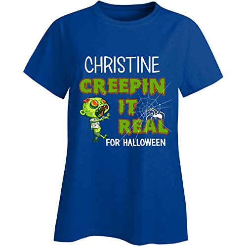 Christine Creepin It Real Funny Halloween Costume Gift - Ladies (Christine Halloween Costume)