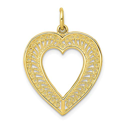 10k Yellow Gold Heart Pendant Charm Necklace Love Fine Jewelry Gifts For Women For Her