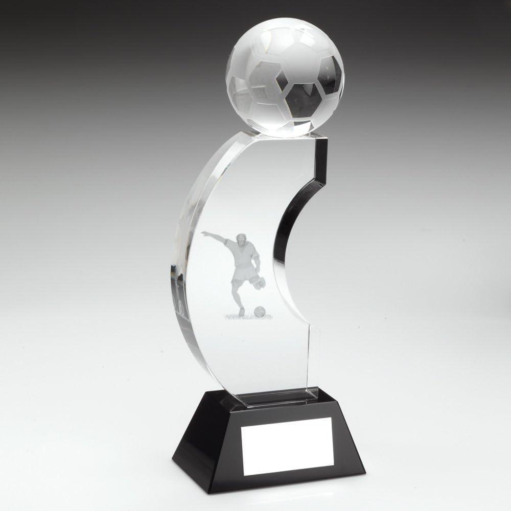 20,96 cm transparente/cristal negro completo con forma de balón de ...