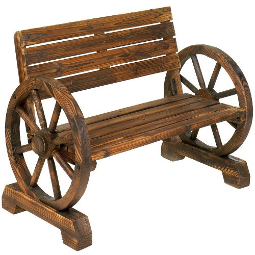 Wagon Wheel Themed Garden Bench for sale  Delivered anywhere in USA