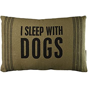 Primitives by Kathy With Dogs Dark Pillow, 10 by 15-Inch