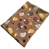 Brown Snuggle Sack with Multi color Hedgehog Fleece Print