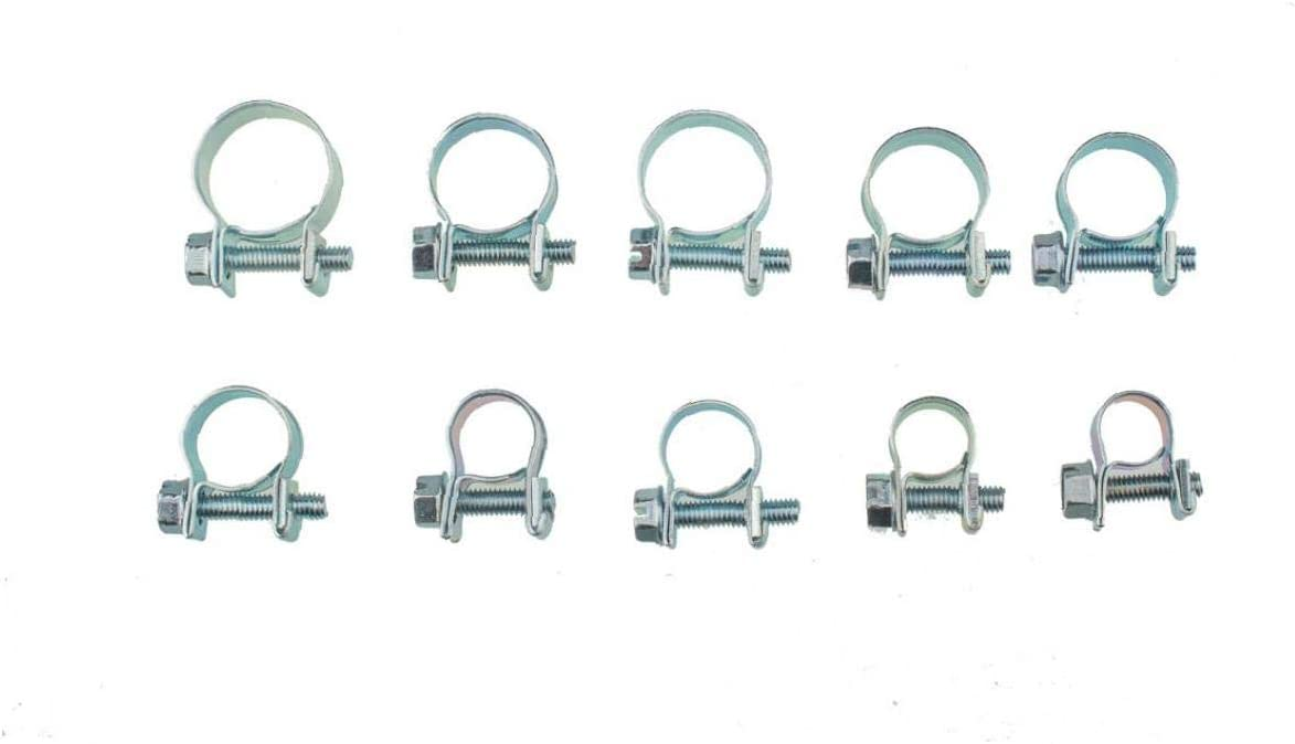 10 Size Mini Fuel Injection Fixture Hose Clamp for Diesel Petrol Pipe Set 7-18mm 78Pcs