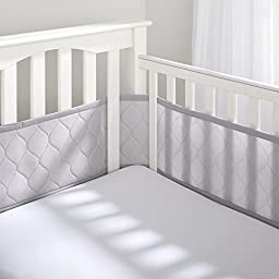 Ultra Luxe Breathable Mesh Crib Liner Gray