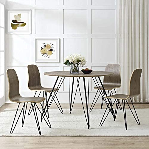 Modway Drift Mid-Century Modern Bentwood Four Kitchen and Dining Room Chair