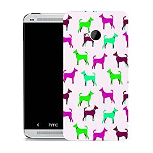 New Hard Printed Pattern BEAU ARTS case for HTC ONE M7 - loveable dogs & Stylus by icecream design