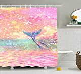 Mermaid Shower Curtain Super Rui Mermaid Shower Curtain Bathroom Decoration Polyester Fabric Waterproof and Mildewproof 72 x 72 inch
