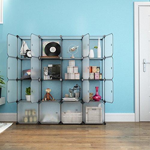 Langria 16 storage cube organizer plastic cubby shelving for Diy modular bookcase