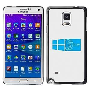 Stuss Case / Funda Carcasa protectora - Blue Windows Image - Samsung Galaxy Note 4