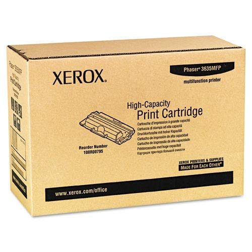 Genuine Xerox High Capacity Black Print Cartridge for the Xerox Phaser 3635MFP, 108R00795