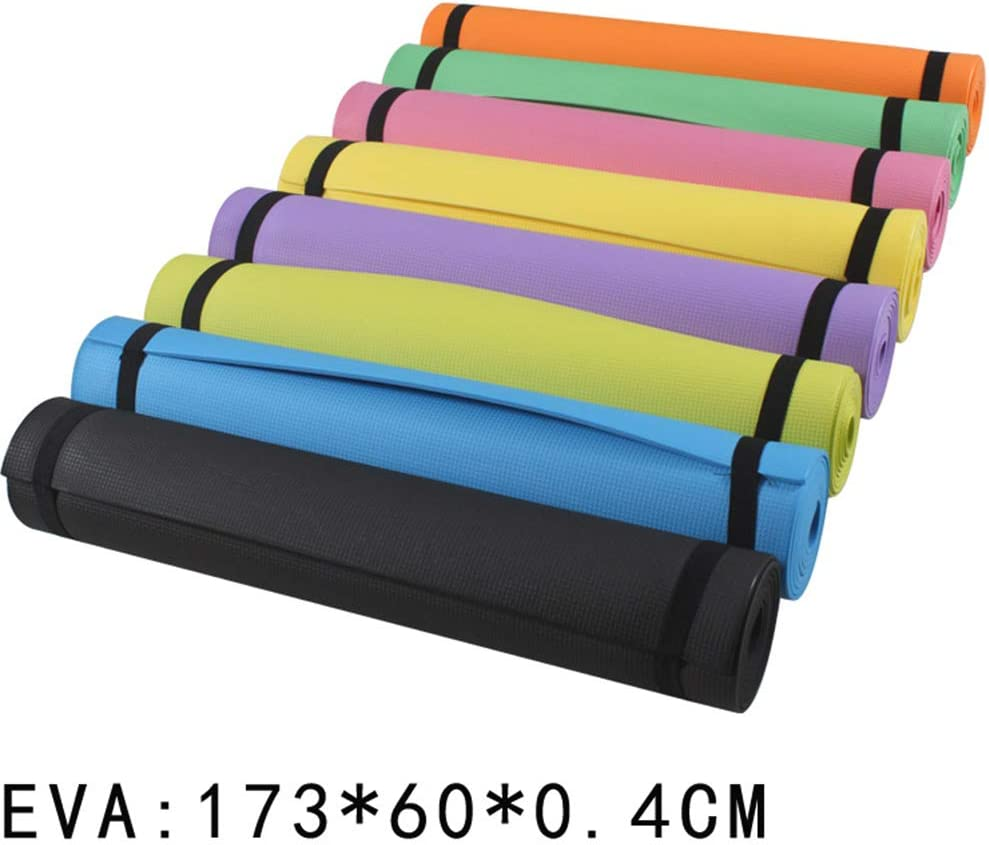 Libre de Contaminantes EVA de 4 mm Libre de Ftalato BYJIN Colchoneta Fitness Estera Deportiva Estera de Ejercicio Antideslizante Esterilla Ideal para Yoga 173 x 60 cm