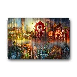 Innovador 15.7-inch por alfombrillas fondos de horda World Of Warcraft Felpudo 23.6–uso en interiores/al aire libre Felpudo de goma antideslizante Felpudo de puerta Mat