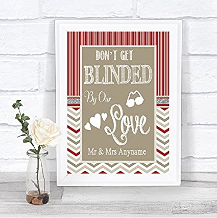 Red & Grey - Gafas de sol personalizables para boda, diseño ...