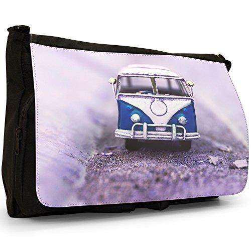 Bag Laptop Canvas Black Large Van Messenger Camper School Shoulder Old Blue 0qw7zHZc