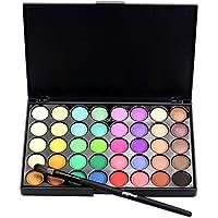 Fabal Cosmetic Matte Eyeshadow Cream Makeup Palette Shimmer Set 40 Color+ Brush Set (B)