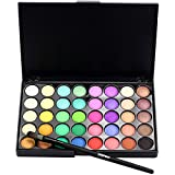 cream eyeshadow set - Fabal Cosmetic Matte Eyeshadow Cream Makeup Palette Shimmer Set 40 Color+ Brush Set (B)