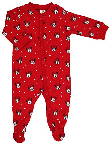 Disney Baby Minnie Mouse Baby Girls Sleepsuit - Sizes Tiny Baby to 24 Months - Tiny Baby / Up to 50 cm
