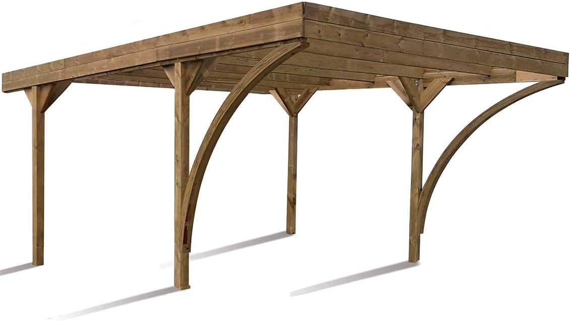Madeira Carport 2 coche de madera tratada autoclave – Doble Harold: Amazon.es: Jardín