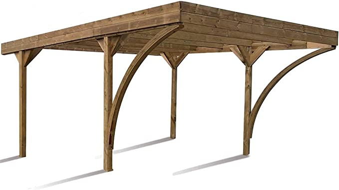 Madeira Carport 2 coche de madera tratada autoclave – Doble Harold ...