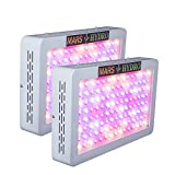 MarsHydro 2 PCS MarsHydro600 LED Grow Light 278W True Watt Panel Full Spectrum 5w Leds for Plants Vegetative Flowering Less Heat Bigger Yields