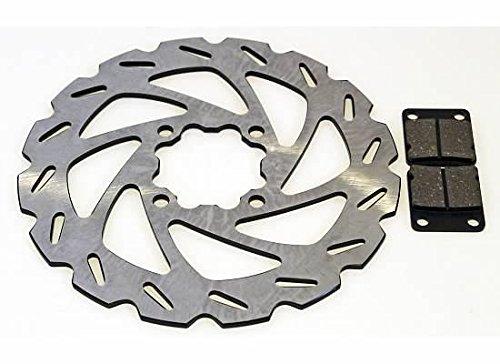 Rear Brake Pads & Sport Brake Rotor Yamaha YFZ350 Banshee 1998 1999 2000 2001 by CycleATV