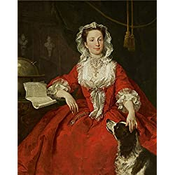 Oil Painting 'William Hogarth - Miss Mary Edwards, 1742', 12 x 15 inch / 30 x 38 cm , on High Definition HD canvas prints is for Gifts And Game Room, Kitchen And Living Room Decoration