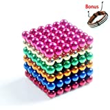 """Delightry 216 Pieces of 0.19"""" Fun Magnetic Office Toy Play Ball Science Kits Multicolor"""