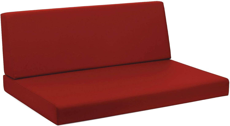 mariotti Cuscini per Pallet 120x80cm Seduta e Schienale in Ecopelle Reforma Rosso