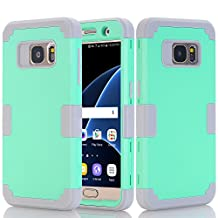 Galaxy S7 Case, Asstar Galaxy S7 - 3 in 1 Shockproof Hybrid Hard PC+ Soft TPU Impact Protection Scratch-Resistant Cover Absorption Bumper Full-Body Case for Samsung Galaxy S7 (Mint+Grey)