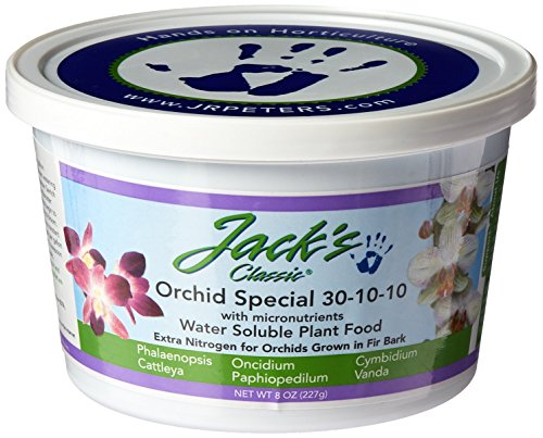 J R Peters Jacks Classic 30-10-10 Orchid Special Fertilizer, 8-Ounce