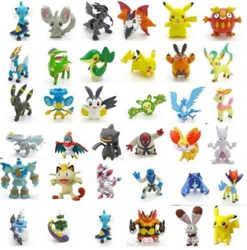Z Random Pokemon 144Pcs Action Figures Mini 1.5-2.5 (cm) / 0.59-0.98 (Inch) Monster Toy Set Gift! USA