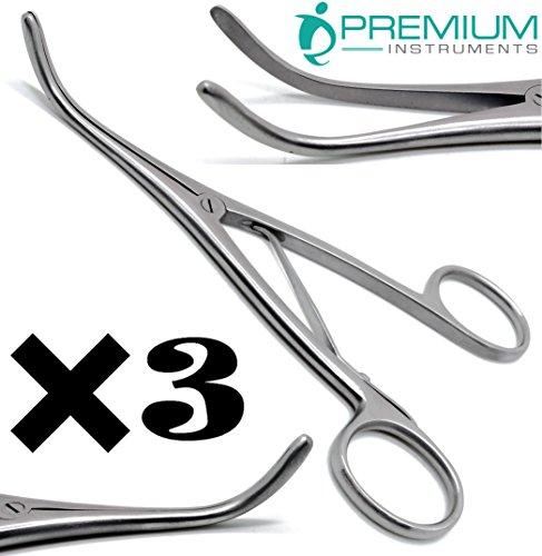 3× Premium Trousseau Tracheal Dil Forceps 5.5
