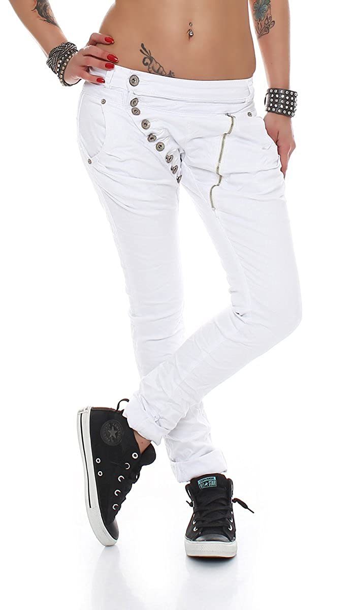 Jodimitty Damen 7//8 Jogginghose Haremshose Baggy mit Taschen Pumphose Elegant Sommerhose Leichte Yoga Sweatpants Trainingshose Freizeithose