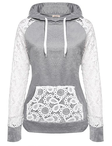 ACEVOG+Women+Sheer+Lace+Long+Sleeve+Hooded+Pullover+Floral+Sweatshirt+Hoodie+With+Pockets%2C+Gray%2C+X-Large