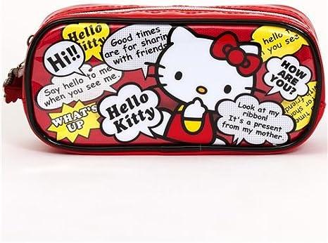 Estuche rojo Hello Kitty, con bocadillos de cómic, de Japón: Amazon.es: Juguetes y juegos