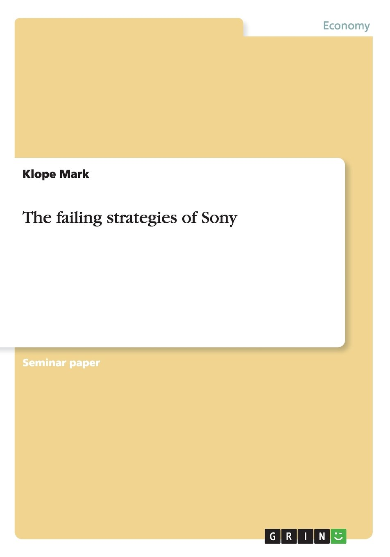 The failing strategies of Sony pdf