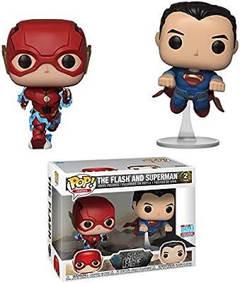 Funko - Figurine DC Justice League - 2-Pack Flash & Superman Exclu Pop 10cm - 0889698344210: Amazon.es: Juguetes y juegos