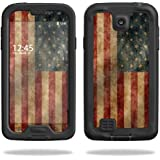 Mightyskins Protective Vinyl Skin Decal Cover for LifeProof Samsung Galaxy S4 Case fre wrap sticker skins Vintage Flag