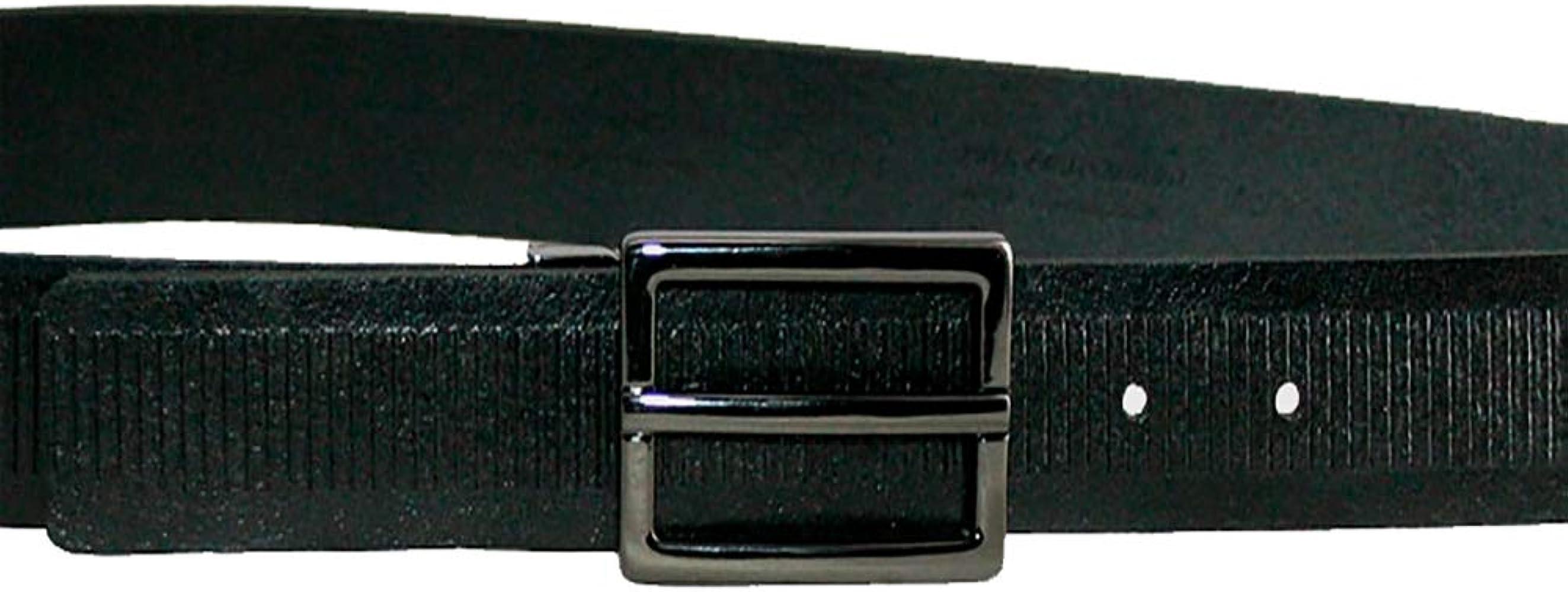 MÁRQUEZ CINTURONES Cinturón de piel para hombre chapa 90 cm negro ...