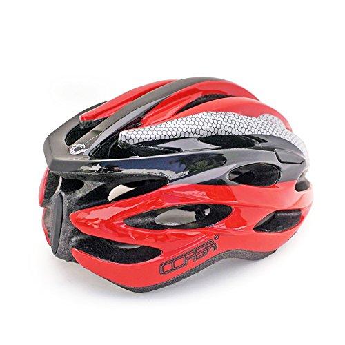 Casco especializado de la bici, casco de ciclo ajustable del deporte Cascos de la bici de la bici para el camino y el Biking de la montaña, motocicleta para ...