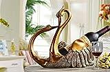 Gift European Swan wine rack practical company Explanation: no wine bottle zj0127222 ( Size : Gold )