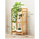 JHZWHJ Wooden Flower Rack Indoor Plant Stand Wooden Plant Flower Display Stand Wood Pot Shelf Storage Rack Outdoor (Size : A35cm)