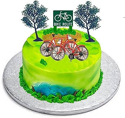 Fabulous Amazon Com Cakesupplyshop B9781 Bicycle Bike Cycling Cake Personalised Birthday Cards Xaembasilily Jamesorg