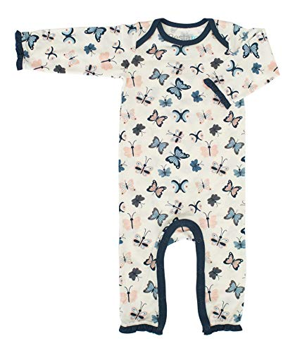 BESTAROO Coverall in White Butterflies 0-3m